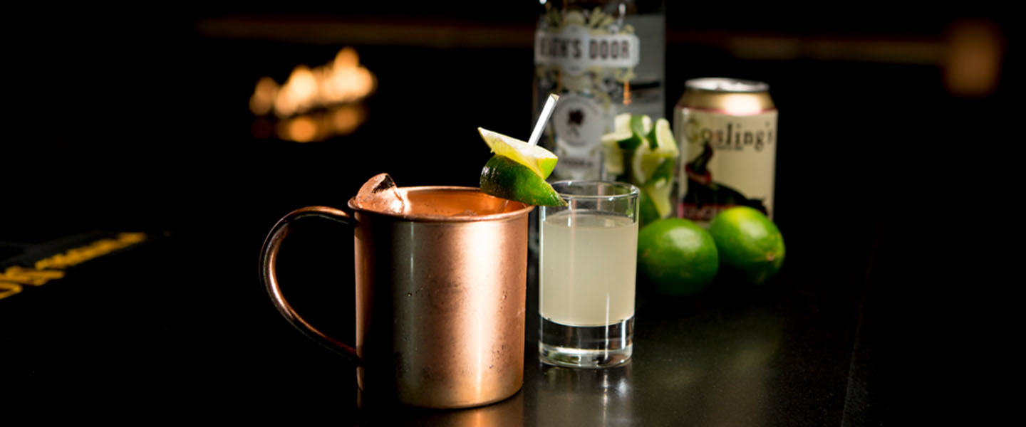 a Madison Mule cocktail set on the bar